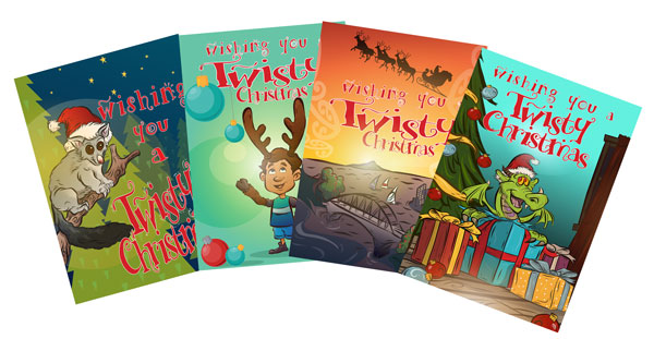 Twisty Christmas Cards